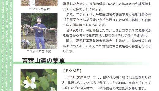 青葉山麓研究所だよりと青葉山新聞できました